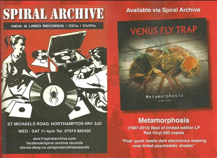 "Venus Fly Trap - ""Methamorphosis (1987-2010)"" out now on red vinyl"