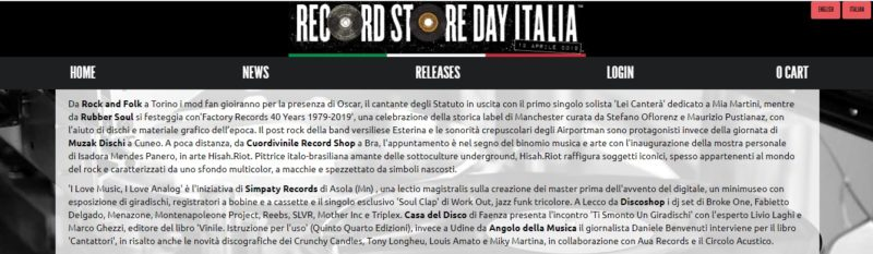 "Record Store Day 2019 - ""Factory Records Story"" con Stefano Oflorenz e Maurizio Pustianaz"